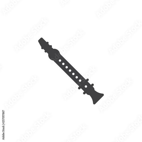 Fotografie, Obraz  Clarinet vector icon