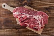 Beef Meat On Cutting Board