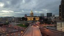 Aerial Of Georgia State Capitol, Atlanta