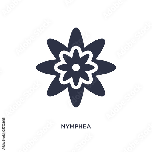 Fototapeta nymphea icon on white background