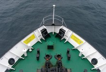 The Bow Of The Ship On The High Seas, Background