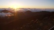 Hawaii Sunsrise from highest peak 10000 ft. above the clouds