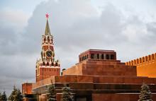 Lenin's Mausoleum And Spasskay...