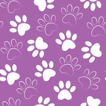 Paw Print Seamless. Vector Ill...