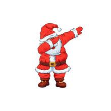 Santa Claus Character Dancing Dab Step