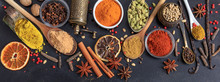 Spices And Herbs. Colorful Spi...