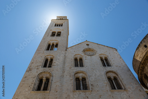 Church with typical architecture of the Italian city of Bari, Apulia Wallpaper Mural