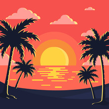 Sunset & Beach Background