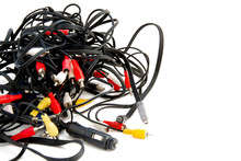 Messy Tangle Of Wires For Vide...