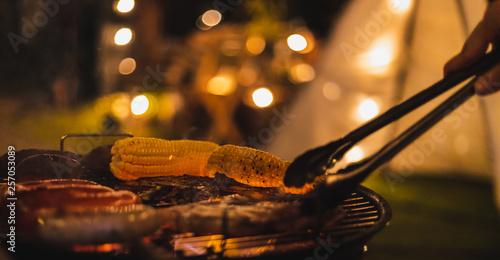 Fotografia barbecue camping