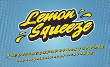 Lemon Squeeze. 3D Vintage Scri...