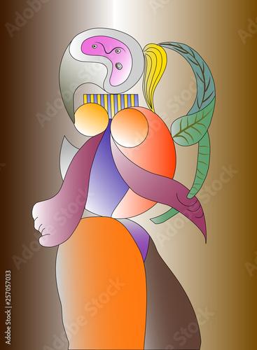 Fotografía  Vector illustration of a great artist