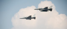 Nakhon Sawan, Thailand, On January 11, 2019. F16 Fighter Show On  National Children's Day At Royal Thai Air Force Base.