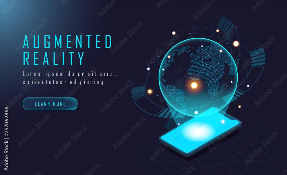 Fototapeta World augmented reality