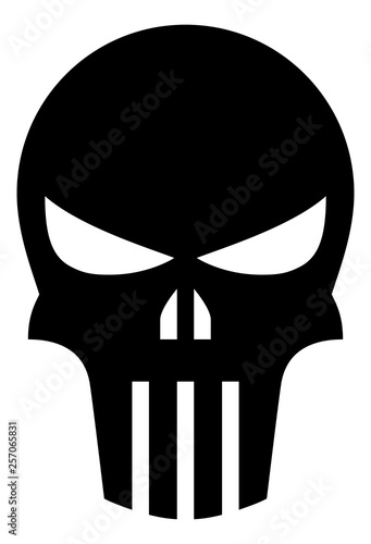 Fotografie, Tablou  Punisher Skull Vector Icon