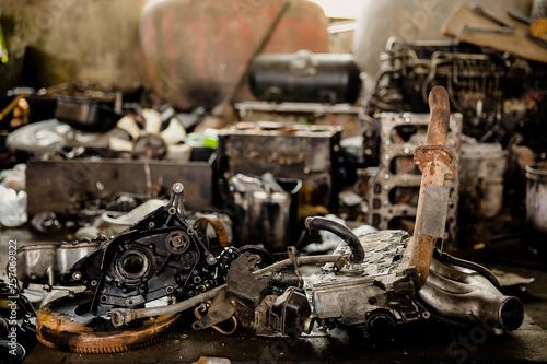 Fotografia, Obraz  Engine, Diesel Fuel, Gear, Metal, Machine Valve