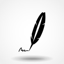 Feather Quill Pen Signing Sign...
