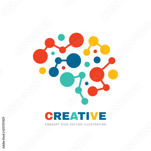 Fotografia  Creative idea - business vector logo template concept illustration