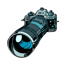 Camera With Telephoto Lens Iso...