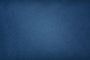Blue fabric texture. Textile background with vignette