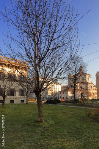Fotografie, Obraz  Milano centro in Italia, Downtown of Milan city in Italy