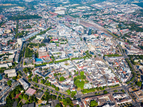 Wall Murals Northern Europe Dortmund city centre aerial view