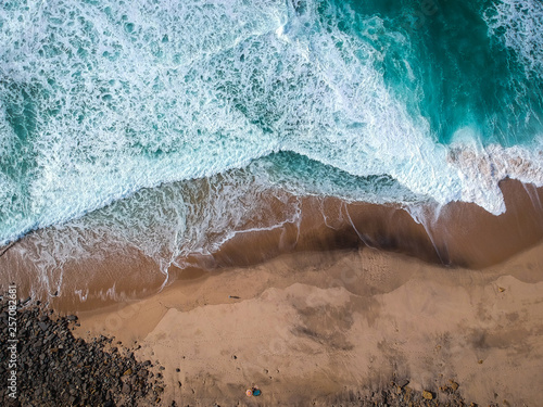 Amazing sandy beach. Aerial view.