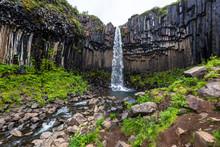 Svartifoss, Or Black Falls Wat...
