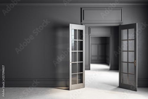 Carta da parati  Modern grey interior with copyspace