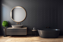 Modern Black Bathroom Interior