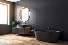 Modern Black Bathroom Side