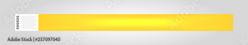 Fotografie, Obraz  Vector illustration of yellow cheap empty bracelet or wristband