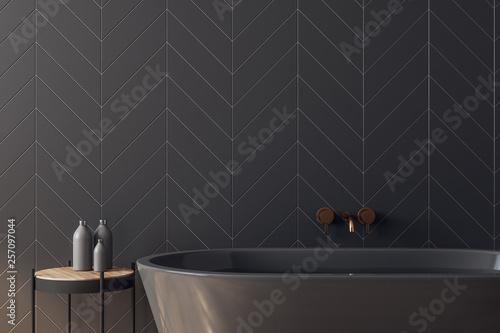 Fotografiet Clean black bathroom