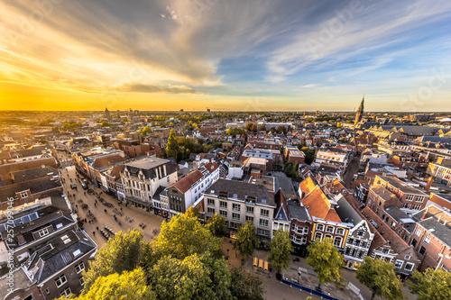 Fototapety, obrazy: Skyline of historic Groningen city