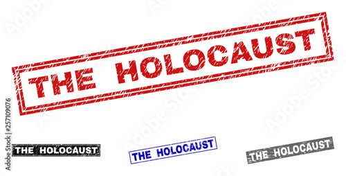Cuadros en Lienzo Grunge THE HOLOCAUST rectangle stamp seals isolated on a white background