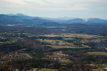 View From Top Of Roanoke Mountain In Autumn Virginia
