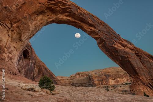 Moon under Corona Arch