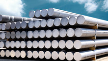 Heap Of Aluminium Bar In Aluminium Profiles Factory
