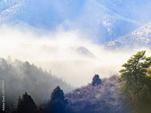 Foto op Canvas Bergen Dust Storm in the Foothills of the Rocky Mountains
