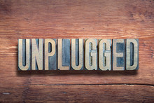Unplugged Letters Wood
