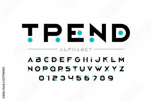 Fotografia, Obraz  Modern font design, trendy alphabet letters and numbers