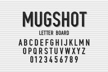 Police Mugshot Letter Board St...
