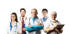 Indian Doctors In Group, Stand...