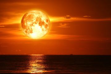 super snow moon back on night sky silhouette cloud