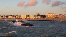 Pornichet Shoreline At Sunset ...