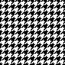 Vector Illustration Of Monochrome Houndstooth Seamless Pattern