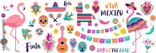 Fotografia  Mexican symbols, icons and illustrations