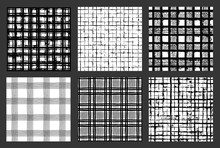 Painted Patterns Hand Drawn Backgrounds Plaid Checkered