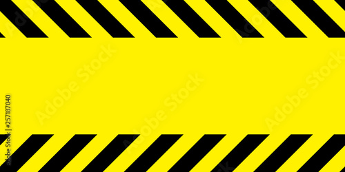 Yellow and black barricade tape. Canvas Print