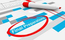 Final Preparations Gantt Chart Last Steps Pre Launch 3d Illustration